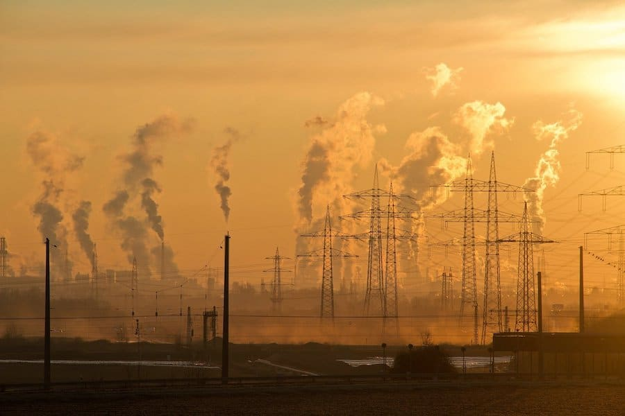 UN Climate Survey pollution chimneys