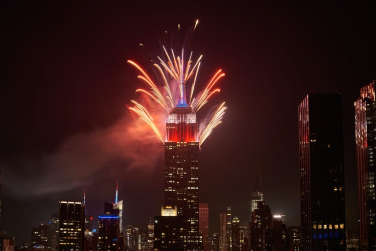Empire State Building Macy's Fireworks