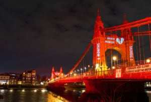 Hammersmith Bridge Projection