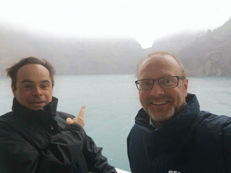SEA LIFE Trust's Rob Hicks Andy Bool at beluga whale sanctuary in iceland