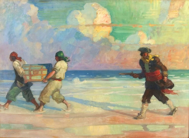 Absconding with the Treasure by NC Wyeth