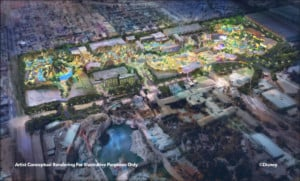 Rendering of DisneylandForward