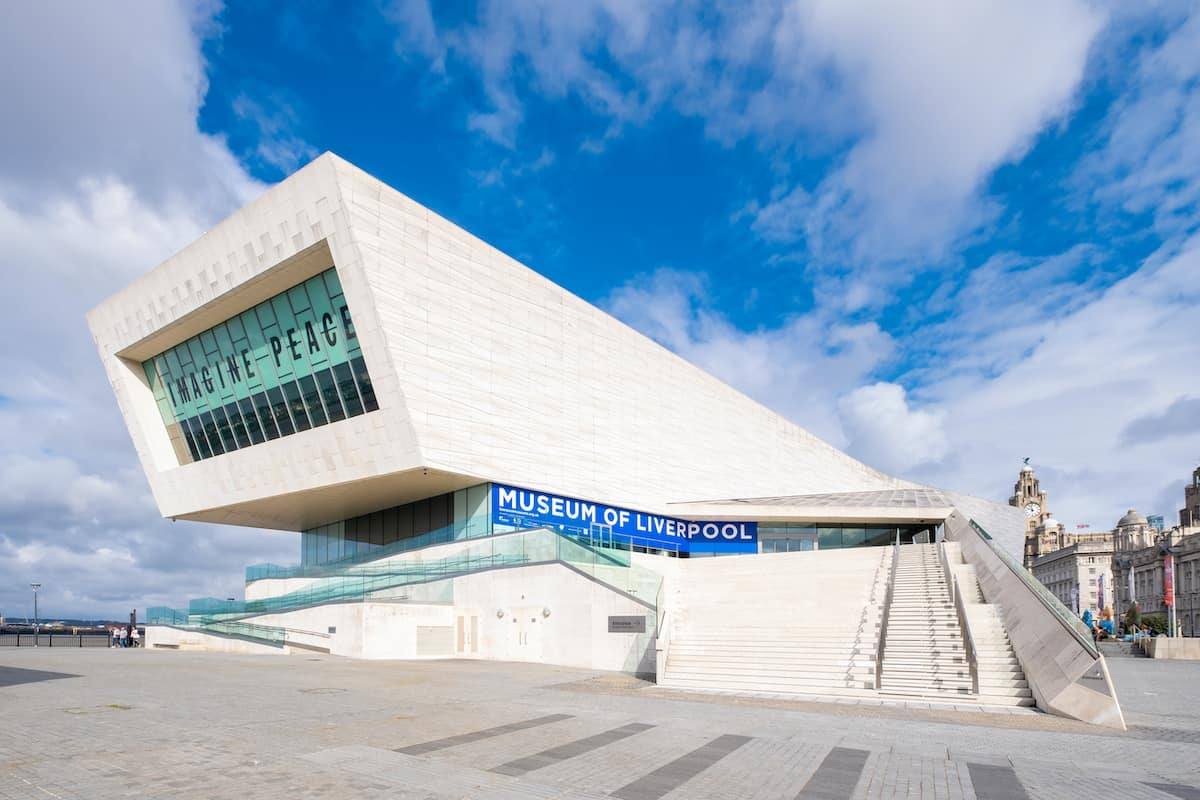 Uk museums reopening museum of liverpool on a sunny day