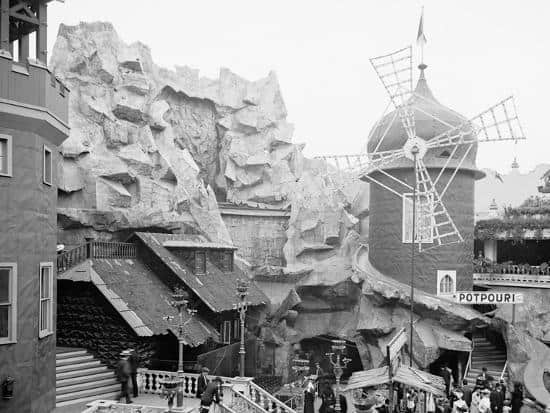 Old Mill Ride at Sea Lion Park, Coney Island history dark rides