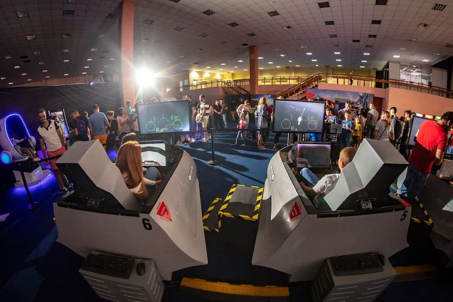 Space Adventure the interactive simulators world touring exhibitions