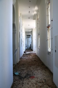 Sursock hallway after the blast