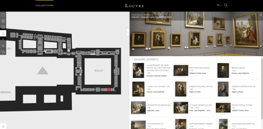 louvre collections database