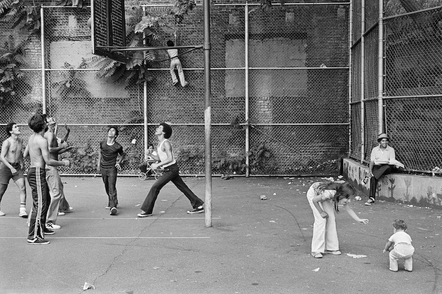 Corner of 11th Street and Avenue A, 1977, photograph by Geoffrey Biddle. Game Exhibiton MCNY