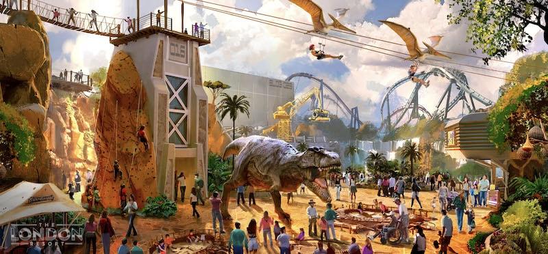 london resort base camp dinosaur land