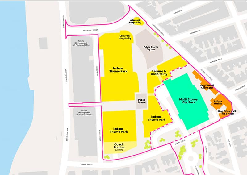 Blackpool Central site plan