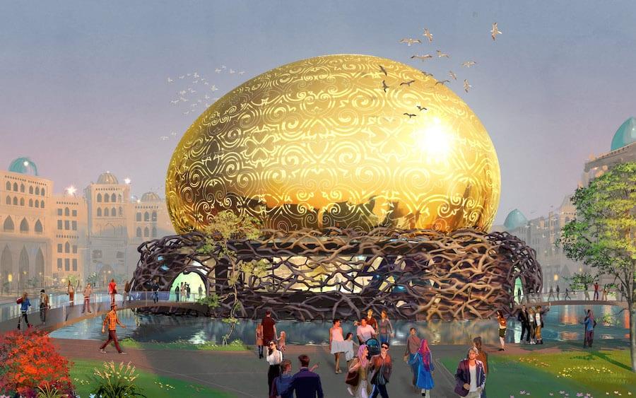 Rendering of the Karavan Saray flying theather dome