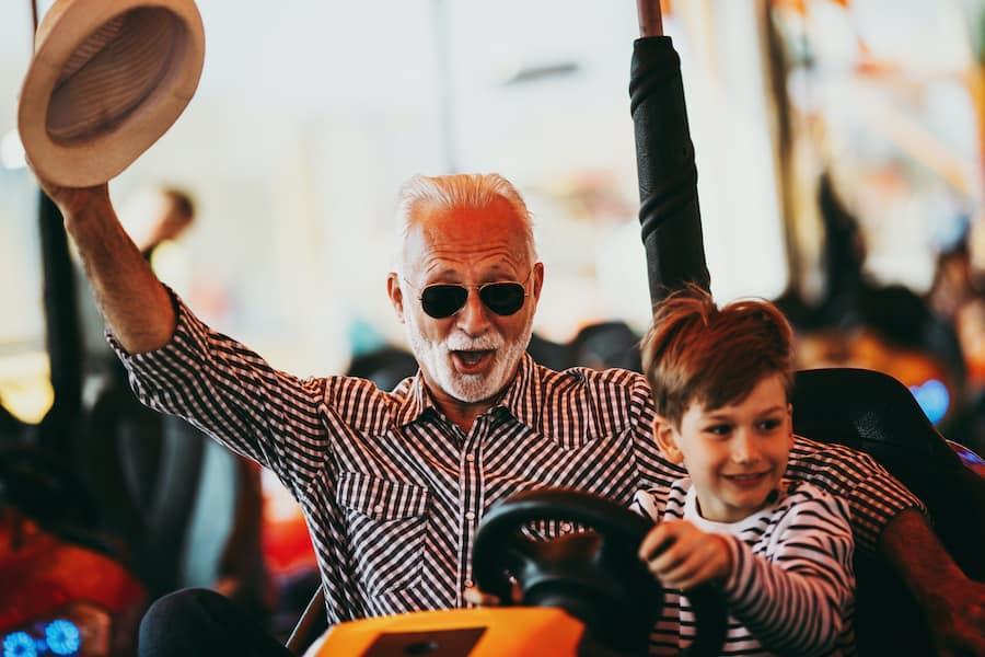 grandfather-grandson-bumper-cars