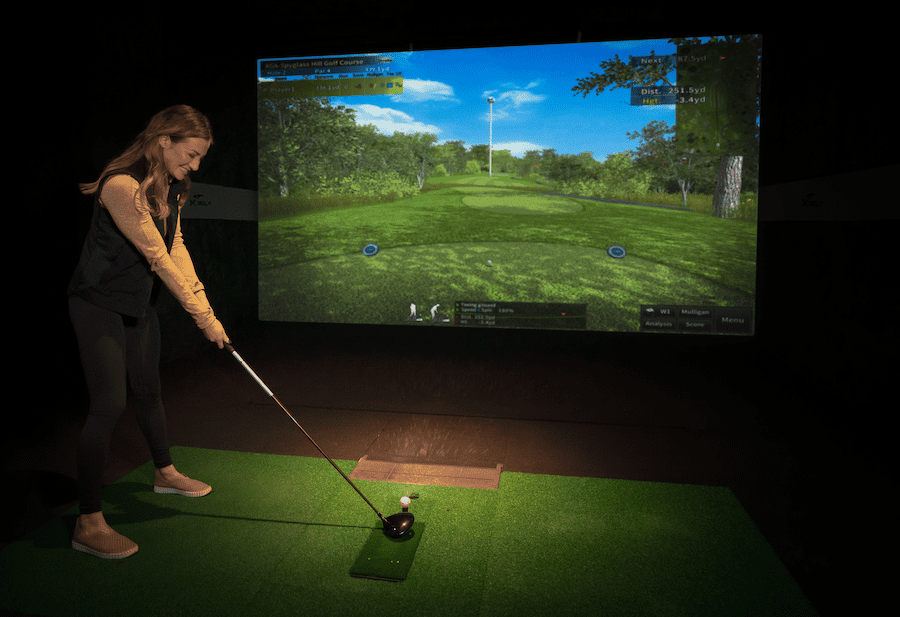 person playing x-golf