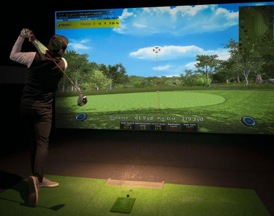playing the virtual simulator