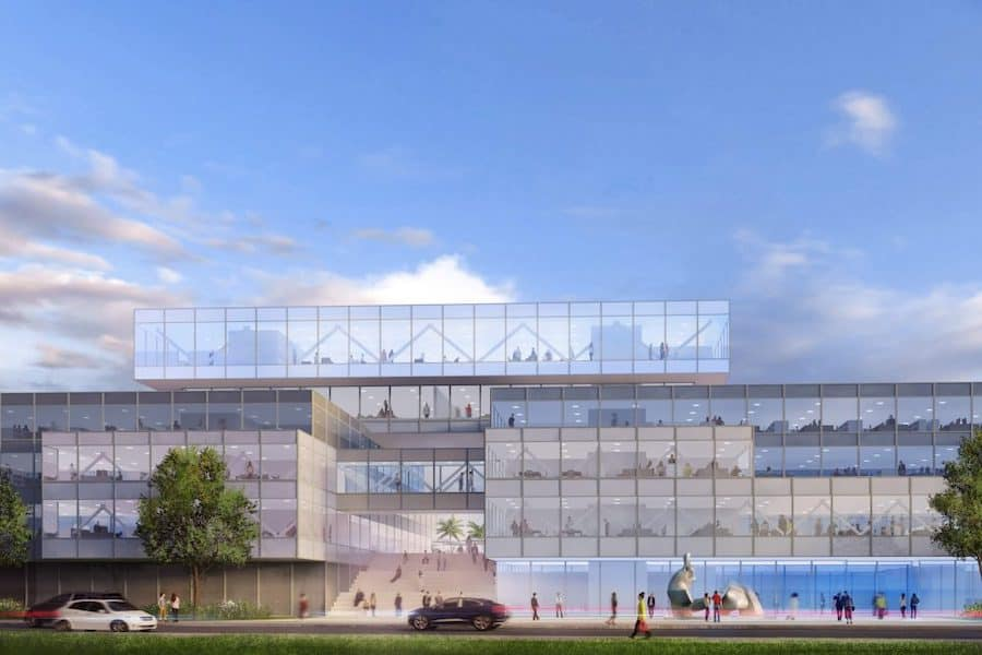 Architectural rendering of Surftown building