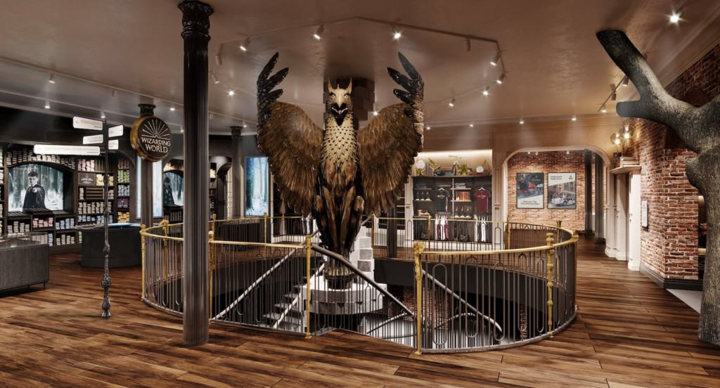 Dumbledore's beautiful Gryphon staircase model