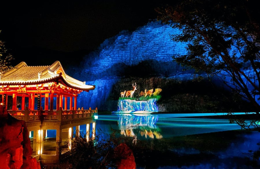 Jiangsu Expo Park with projections Christie laser projectors