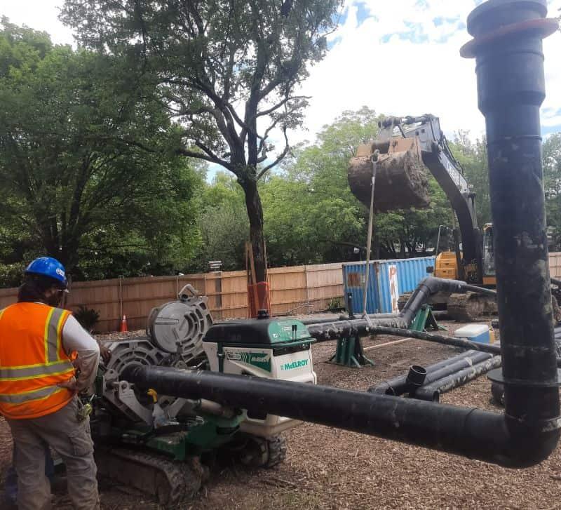 Longhorn organics ft worth zoo construction