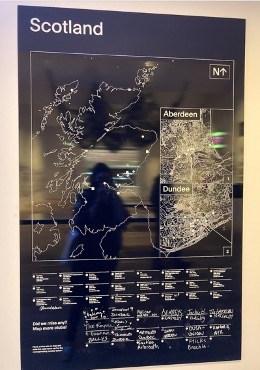 Nightclub map of scotland V&A dundee Night Fever