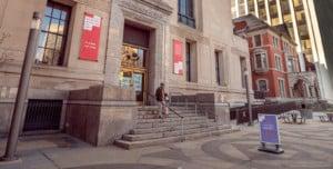The Newark Museum of Art, exterior, January 2021