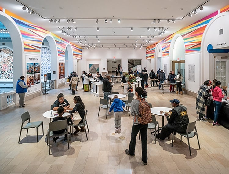 The local community gathered in The Newark Museum of Art prior to shut down