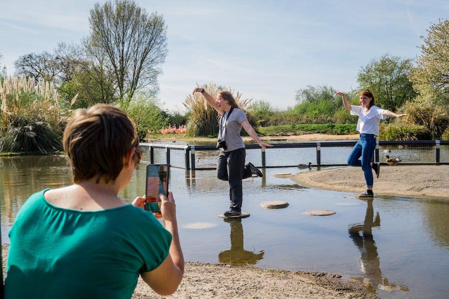 Visitors using Wetland Heroes app
