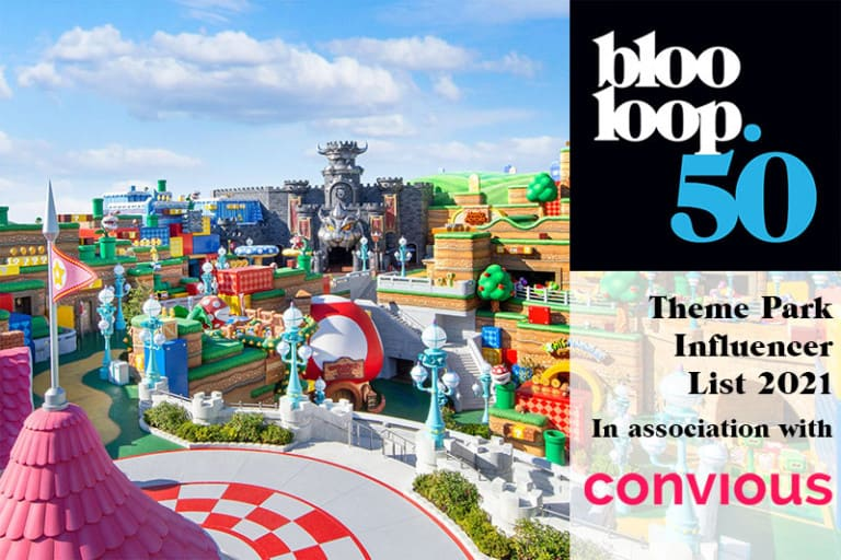 Blooloop 50 theme park influencer list with convious