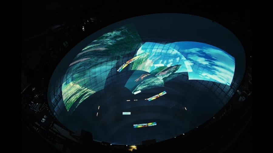 digital projection flying theatre hengdian world