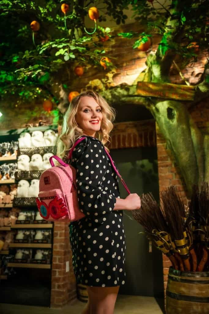 woman shopping at harry potter store
