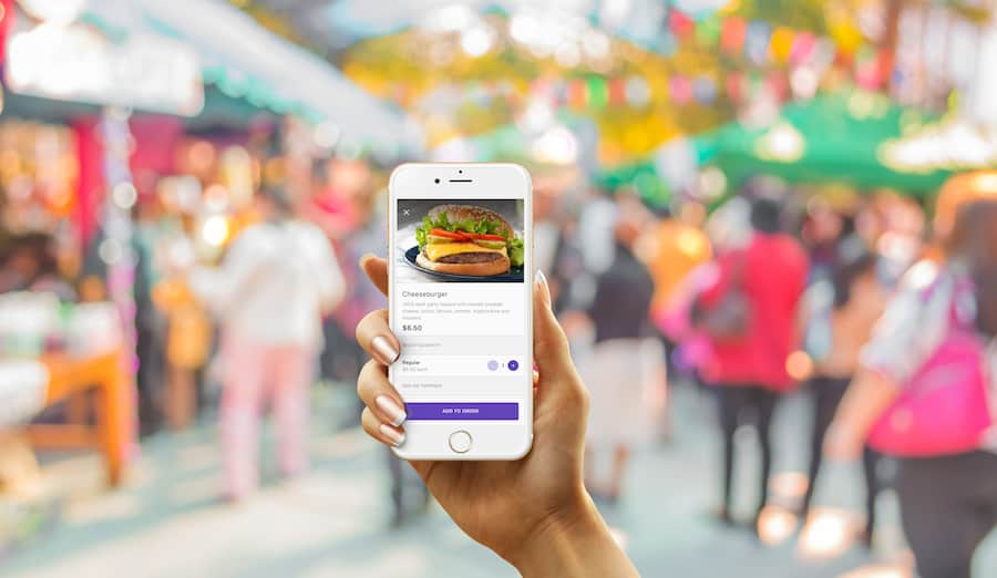 Mobile F&B ordering accesso contactless technology