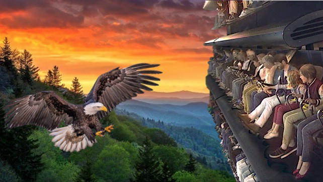 SkyFly - Flying Theater and Smoky Mountains