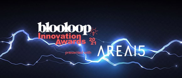 Blooloop Innovation Awards with AREA15 poster