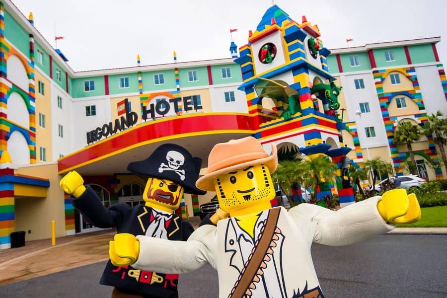 LEGO figures outside LEGOLAND New York hotel