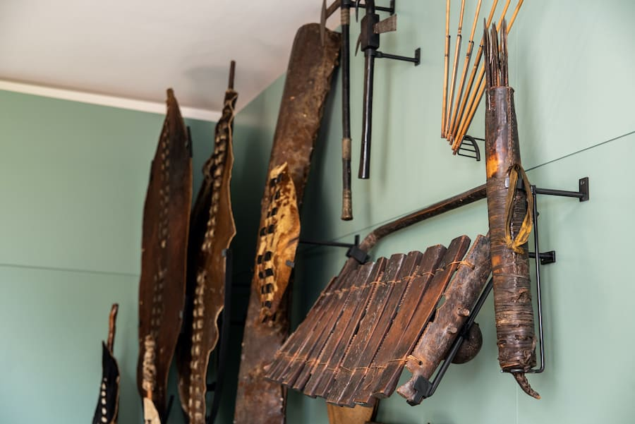 African objects used for ceremonies and defence