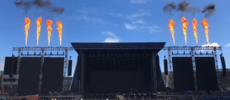 Flame_systems testing in Ireland for Westlife European Tour
