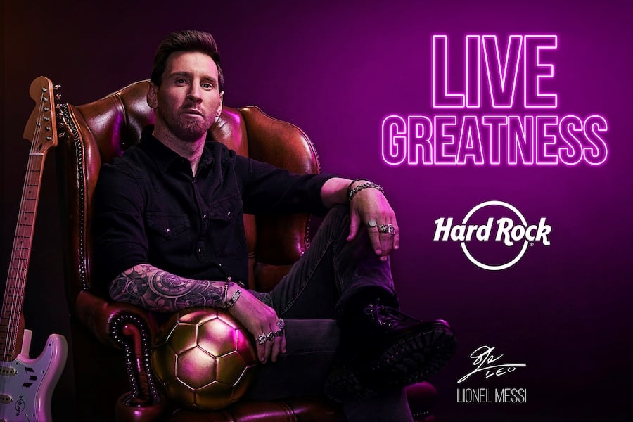 Hard Rock Cafe and Messi