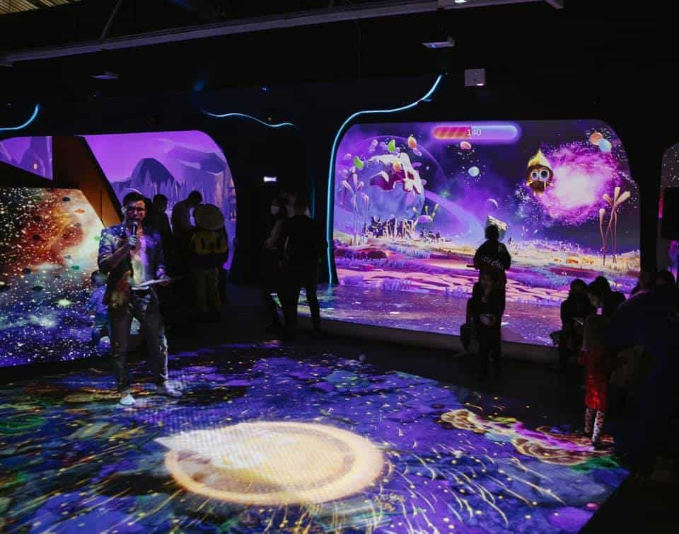 people at Hello IO immersive experience