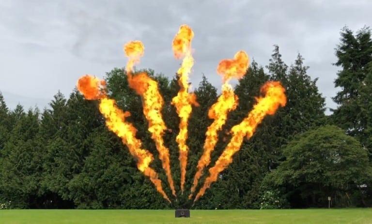 Luminous 5 way liquid flame system