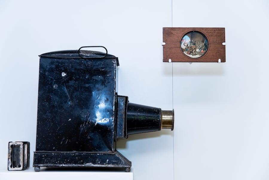 Magic Lantern and Magic Lantern Slide, David Livingstone Birthplace Museum