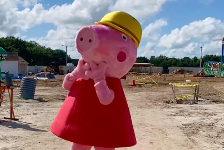peppa pig theme park construction