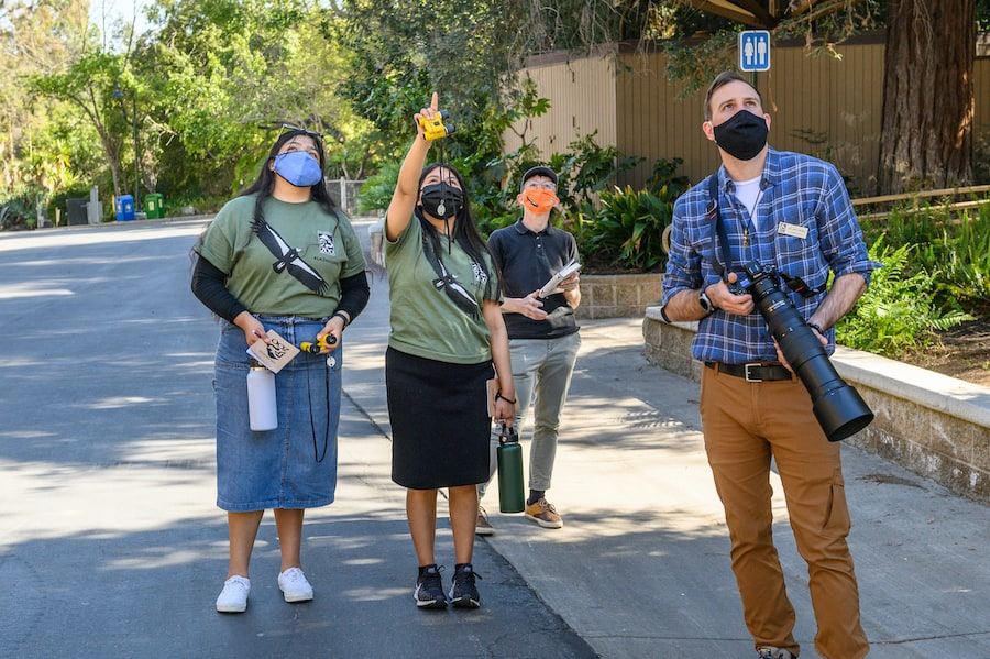 Conservation Interns at Los Angeles Zoo