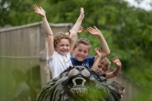 Kids at Marwell Zoo staycation