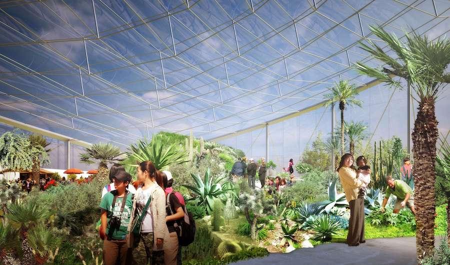 Mediterranean Biome rendering Canada's Diversity Gardens