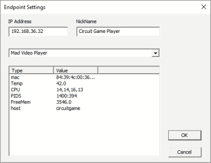 QuickSilver endpoint settings