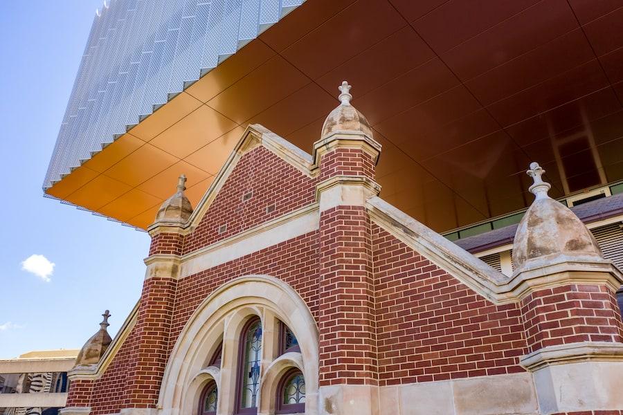 WA Museum Boola Bardip Hackett Hall and cantilever