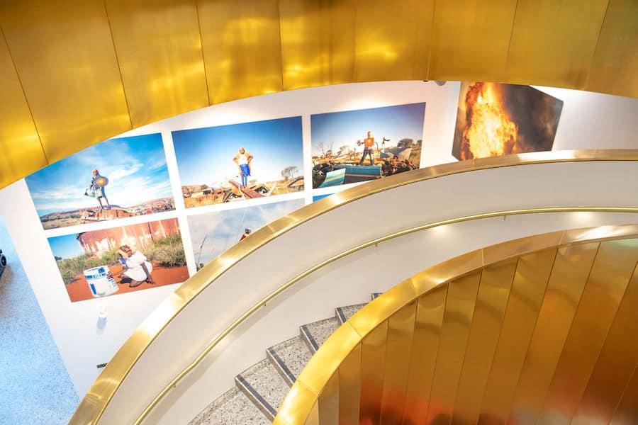 Warakurna superheroes and gold stair case