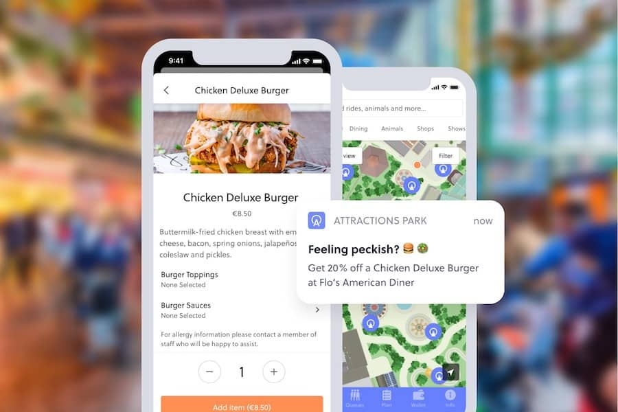 mobile food ordering attractions