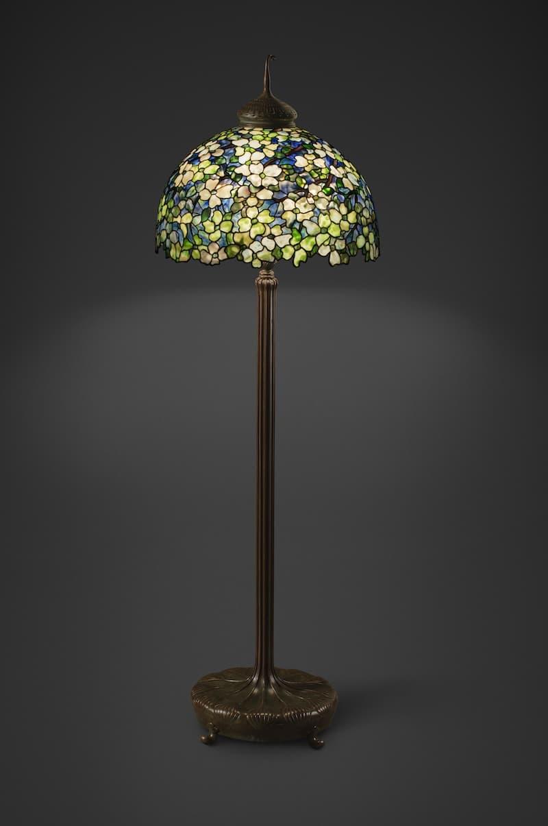 Tiffany Dogwood Standing Lamp New-York Historical Society